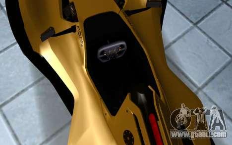 BAC Mono for GTA San Andreas back view