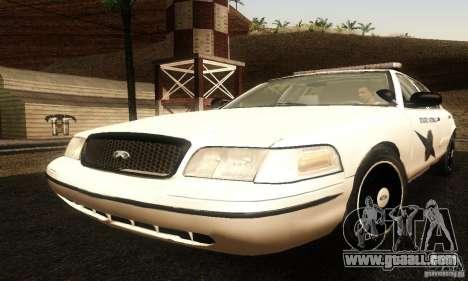 Ford Crown Victoria Washington Police for GTA San Andreas