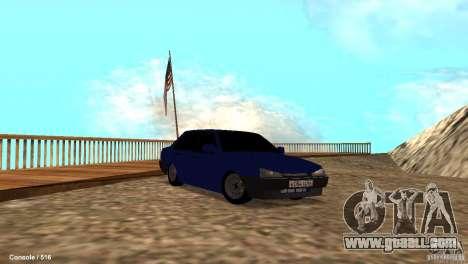 BAZ 21099 for GTA San Andreas bottom view