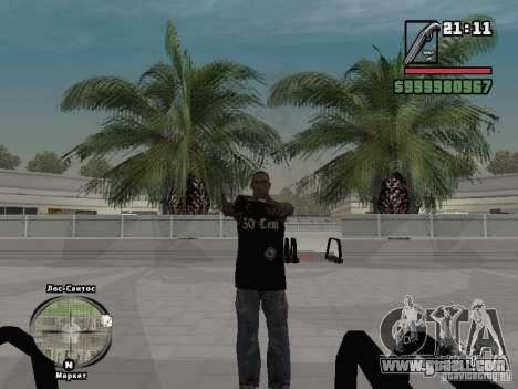 50 cent tank top for GTA San Andreas third screenshot