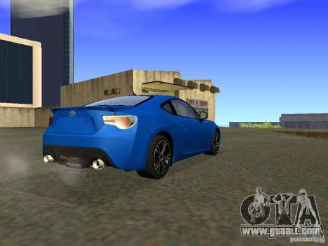 Toyota GT86 Limited for GTA San Andreas right view