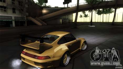 Porsche 993 RWB for GTA San Andreas inner view