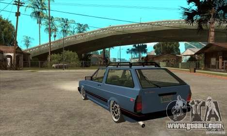 VW Fox 1989 v.2.0 for GTA San Andreas back left view