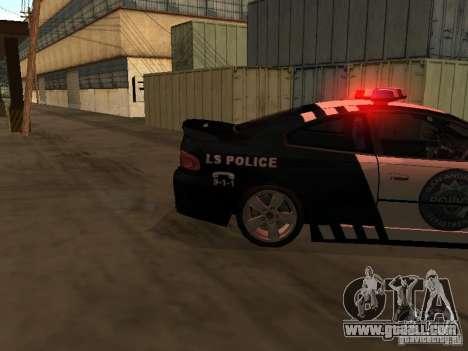 Pontiac GTO Police for GTA San Andreas back left view