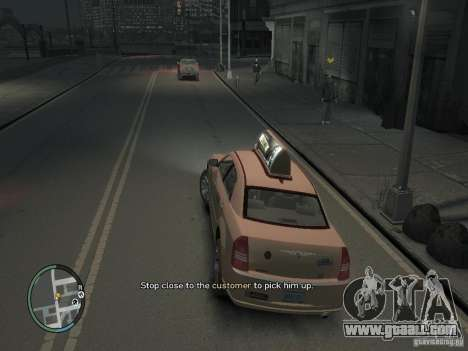 The Mission of taxi driver for GTA 4 for GTA 4 forth screenshot