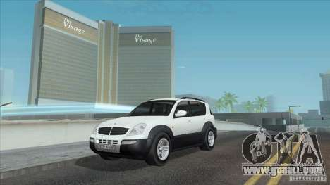SsangYong Rexton 2005 for GTA San Andreas engine