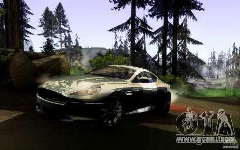 Aston Martin Virage V1.0 for GTA San Andreas back left view