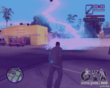 Chidory Mod for GTA San Andreas forth screenshot