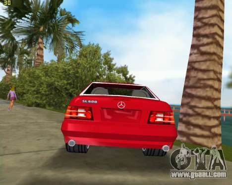 Mercedes-Benz SL600 1999 for GTA Vice City right view