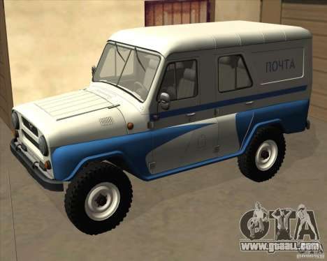 UAZ-469P for GTA San Andreas back left view