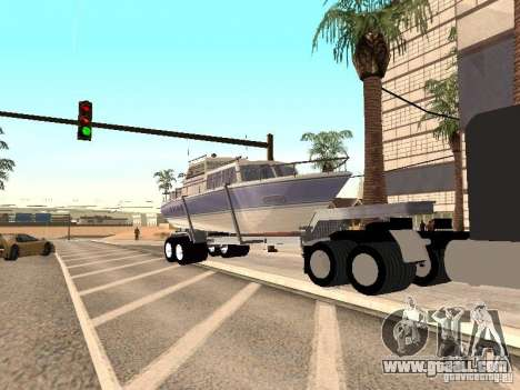 Boat Trailer for GTA San Andreas right view