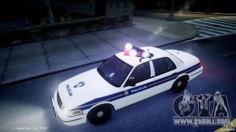 Ford Crown Victoria Croatian Police Unit for GTA 4 interior
