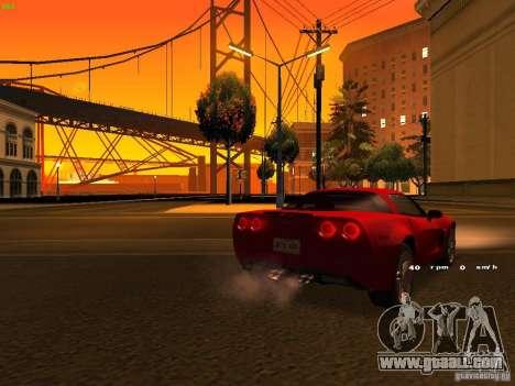 Chevrolet Corvette Z06 for GTA San Andreas bottom view