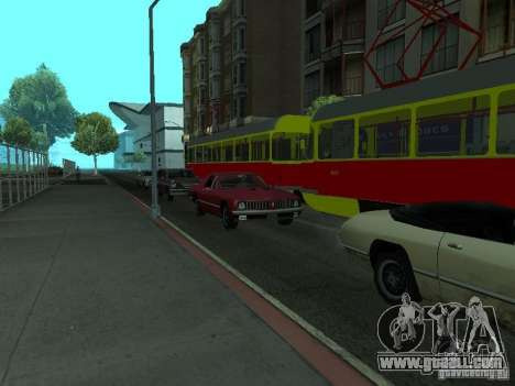 Tatra T3SU for GTA San Andreas right view
