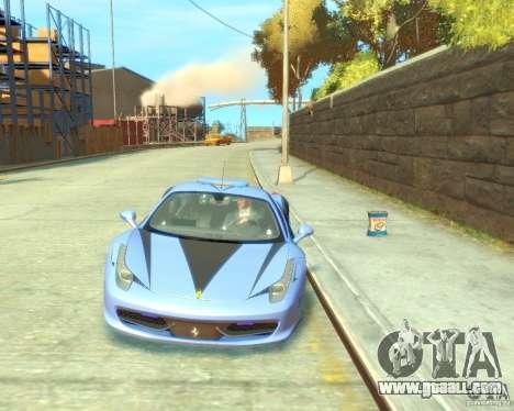 Ferrari 458 Italia Police for GTA 4 back view