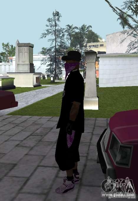 New Ballas Skin for GTA San Andreas third screenshot