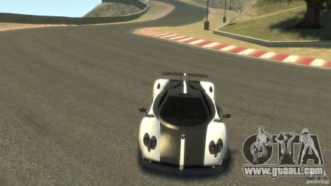 Pagani Zonda Cinque 2009 for GTA 4 back view