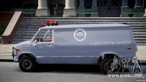 Chevrolet G20 Police Van [ELS] for GTA 4 left view