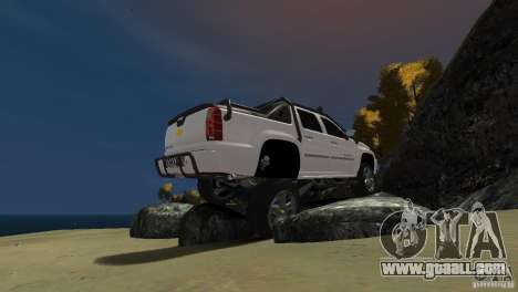 Chevrolet Avalanche 4x4 Truck for GTA 4 right view