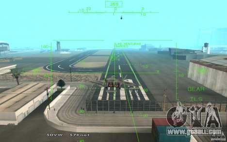 F/A-22 Velociraptor for GTA San Andreas right view