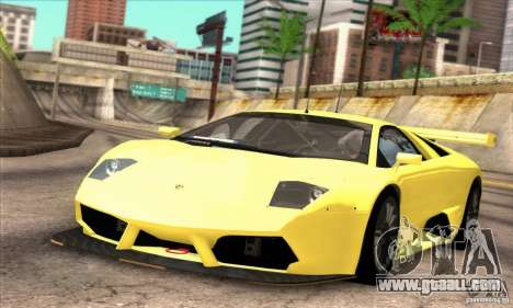 Lamborghini Murcielago R-SV GT1 for GTA San Andreas back view