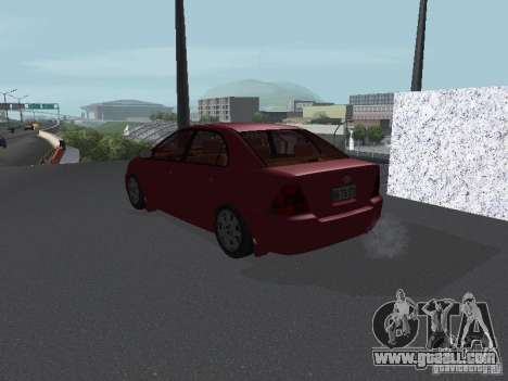 Toyota Corolla Sedan for GTA San Andreas back left view