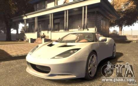 Lotus Evora 2009 for GTA 4