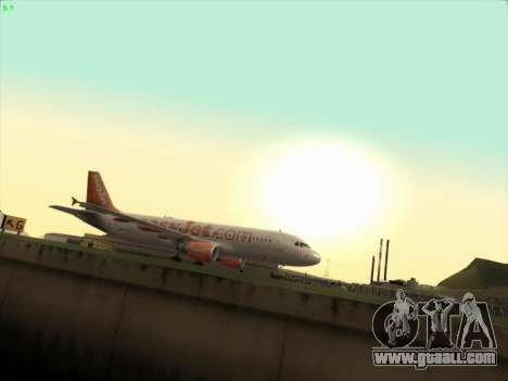 Airbus A320-214 EasyJet for GTA San Andreas left view