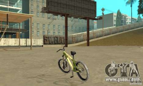 Hardy 3 Dirt Bike for GTA San Andreas back left view