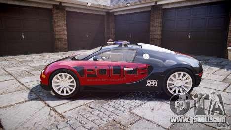 Bugatti Veyron 16.4 Police [EPM/ELS] for GTA 4 left view