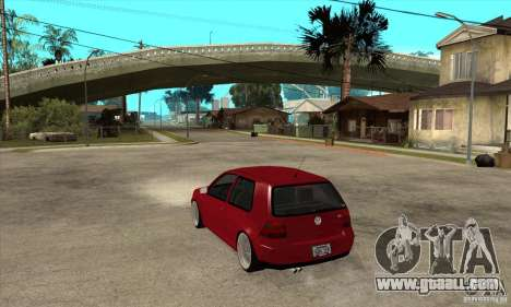 VW Golf 4 V6 Bolf for GTA San Andreas back left view