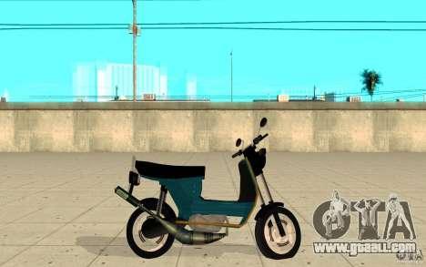 Simson SR50 tuned Big Bore 3 for GTA San Andreas left view