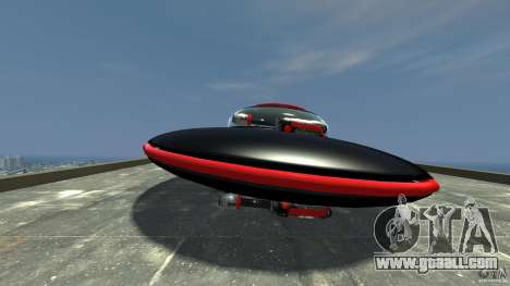 UFO neon ufo red for GTA 4 left view
