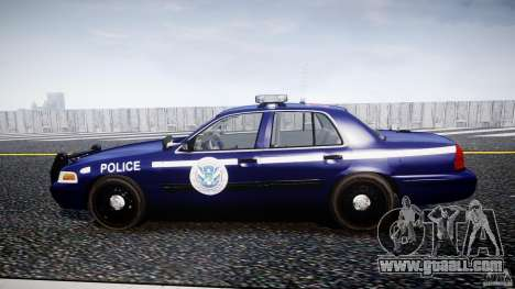 Ford Crown Victoria Homeland Security [ELS] for GTA 4 left view