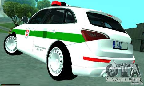 Audi Q5 TDi - Policija for GTA San Andreas left view