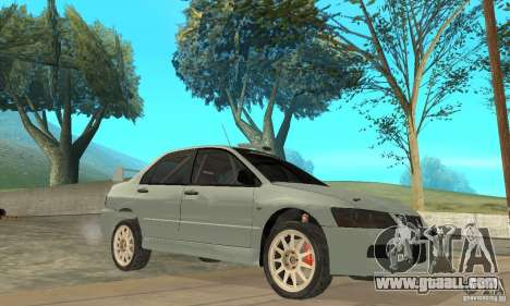 Mitsubishi Lancer Evolution IX for GTA San Andreas side view