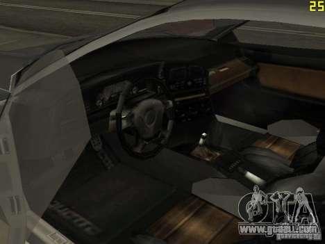 Cheetah from GTA 4 for GTA San Andreas back view