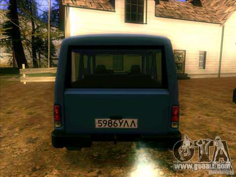 UAZ 3170 for GTA San Andreas back left view