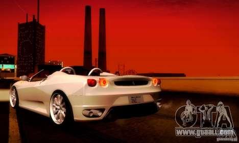 Ferrari F430 Spider for GTA San Andreas right view