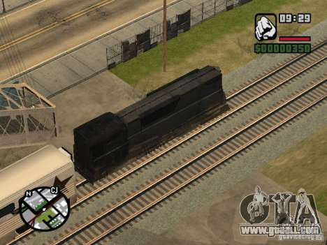 Combine train from the game half-life 2 for GTA San Andreas side view