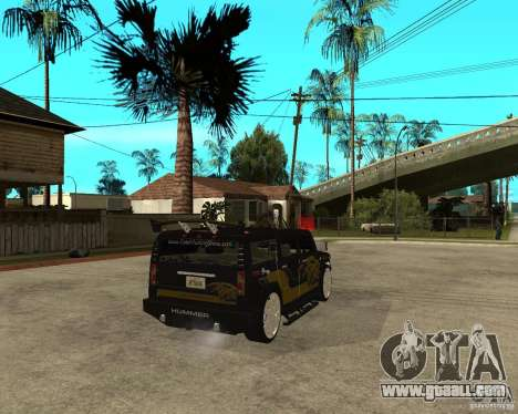H2 HUMMER DUB LOWRIDE for GTA San Andreas back left view