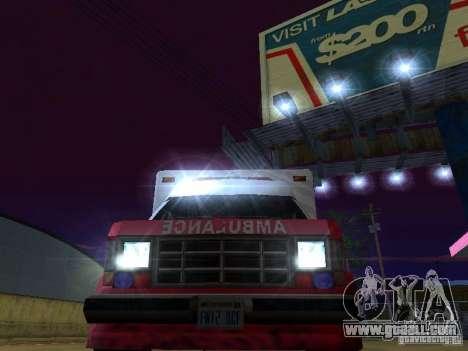 Ambulance 1987 San Andreas for GTA San Andreas inner view