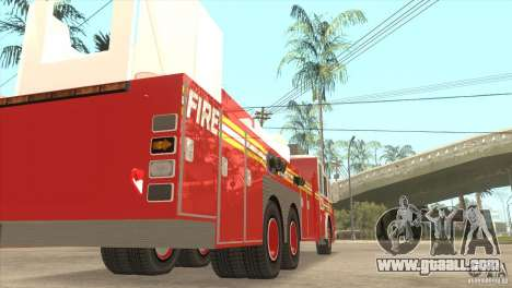 FDNY Seagrave Marauder II Tower Ladder for GTA San Andreas right view