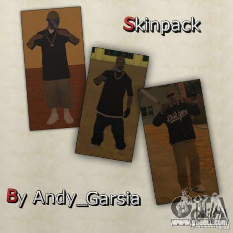 Aztecas Skins for GTA San Andreas