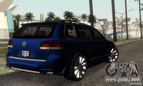 VolksWagen Touareg R50 JE Design Tuning for GTA San Andreas back left view