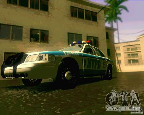 Ford Crown Victoria 2003 NYPD police V2.0 for GTA San Andreas right view