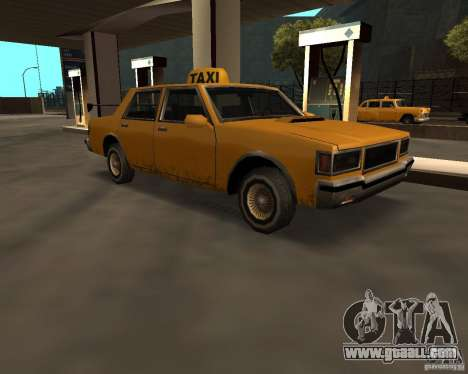 LV Taxi for GTA San Andreas back left view