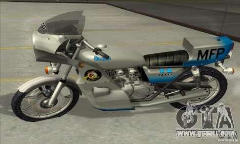 Kawasaki KZ1000 MFP for GTA San Andreas back view