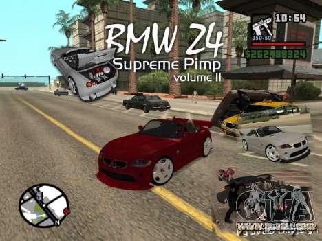 BMW Z4 Supreme Pimp TUNING volume II for GTA San Andreas