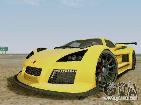 Gumpert Apollo S 2012 for GTA San Andreas